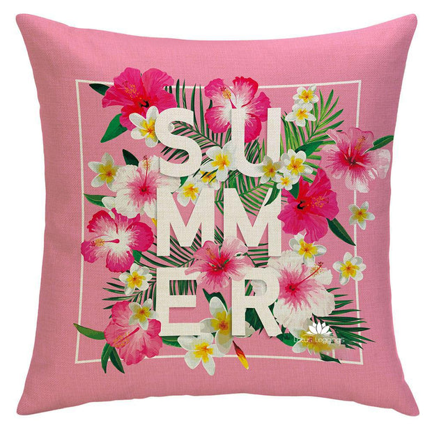 SUMMERTIME PINK PILLOW COVER