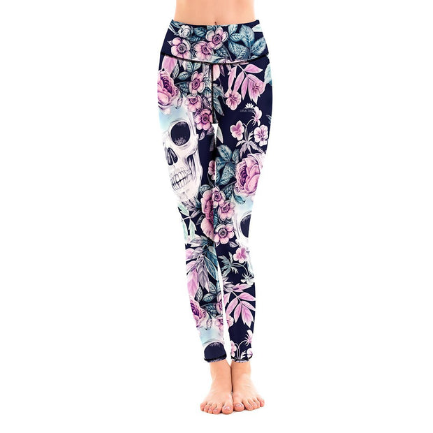 LOTUSX™ SKULL MIDNIGHT GARDEN LEGGINGS