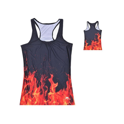 ON FIRE RACERBACK TOP