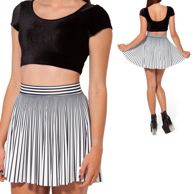 STRIPED CHEERLEADER SKIRT