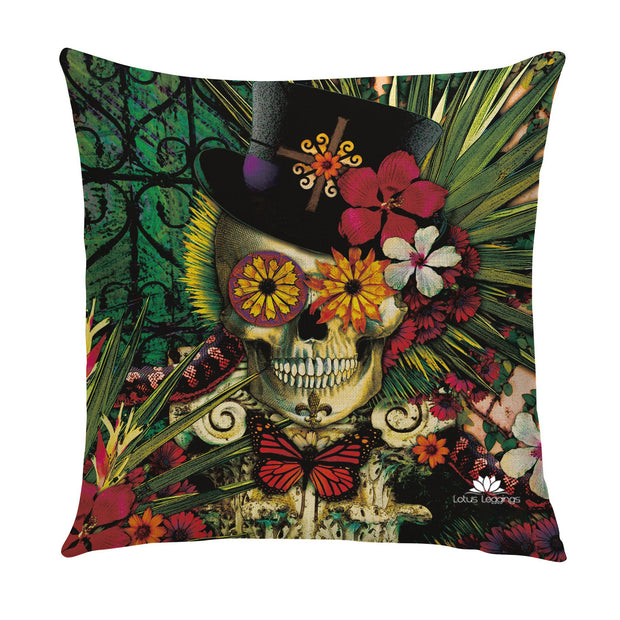TOP HAT SKULL PILLOW COVER