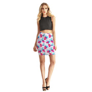 BRUSHY FLOWER BODYCON SKIRT