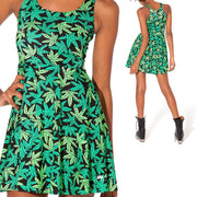 MARIJUANA REVERSIBLE SKATER DRESS