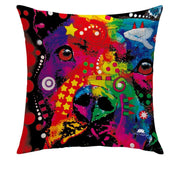 ARTFUL DOGGY PILLOW COVER