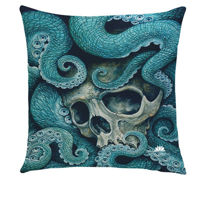 OCTOPUS SKULL PILLOW COVER