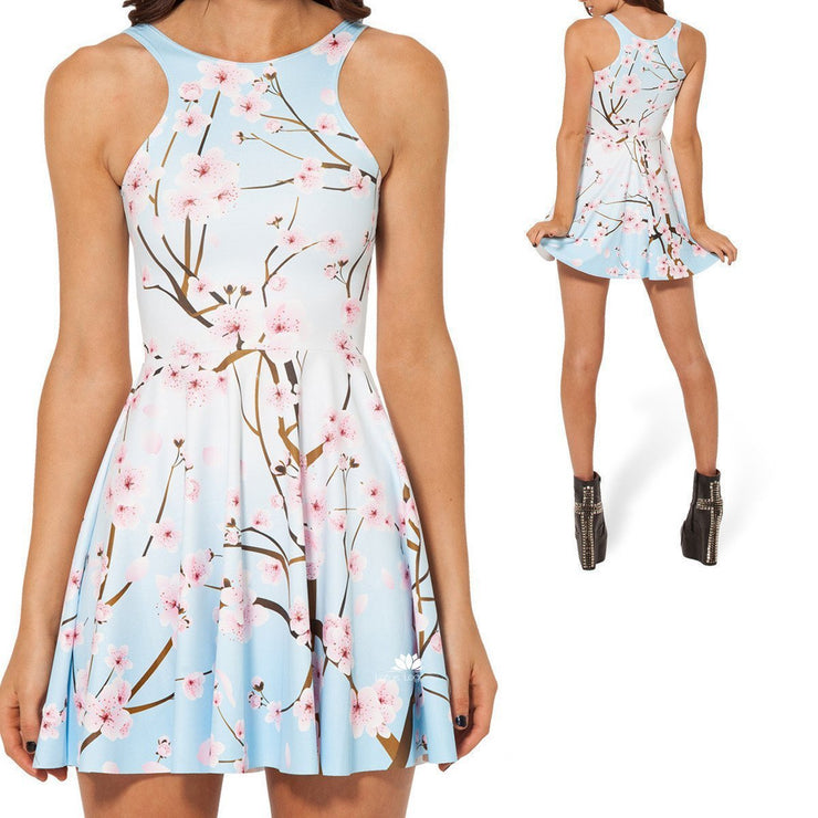 CHERRY BLOSSOMS REVERSIBLE SKATER DRESS - Lotus Leggings
