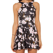 CHERRY BLOSSOMS REVERSIBLE SKATER DRESS