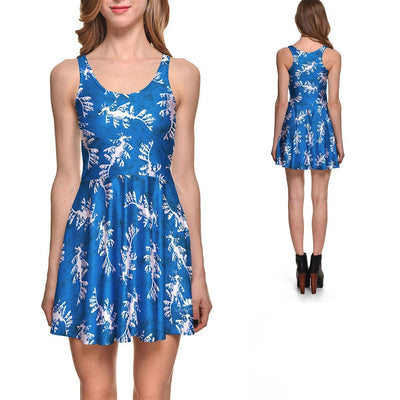 SEA DRAGON SKATER DRESS
