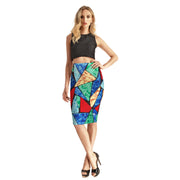 ARTSY TRIANGLE PENCIL SKIRT