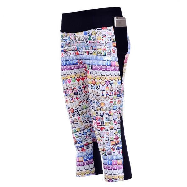 EMOJIS ATHLETIC CAPRI
