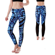 BLUE LEAVES MAXREVEAL LEGGINGS
