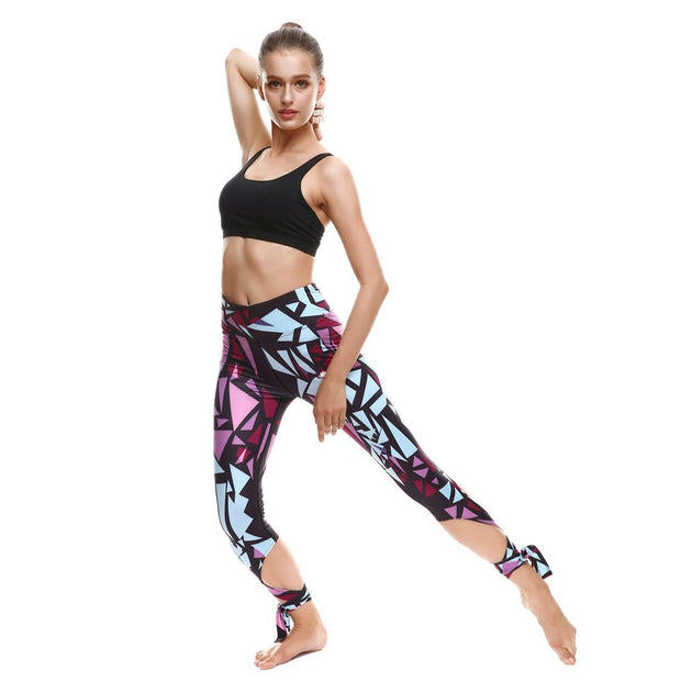 TRIANGLE TIE-UP LEGGINGS