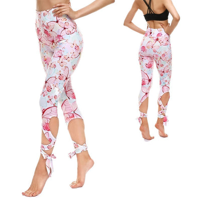 SOFT BUTTERFLY TIE-UP LEGGINGS