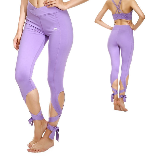 LAVENDER TIE-UP LEGGINGS