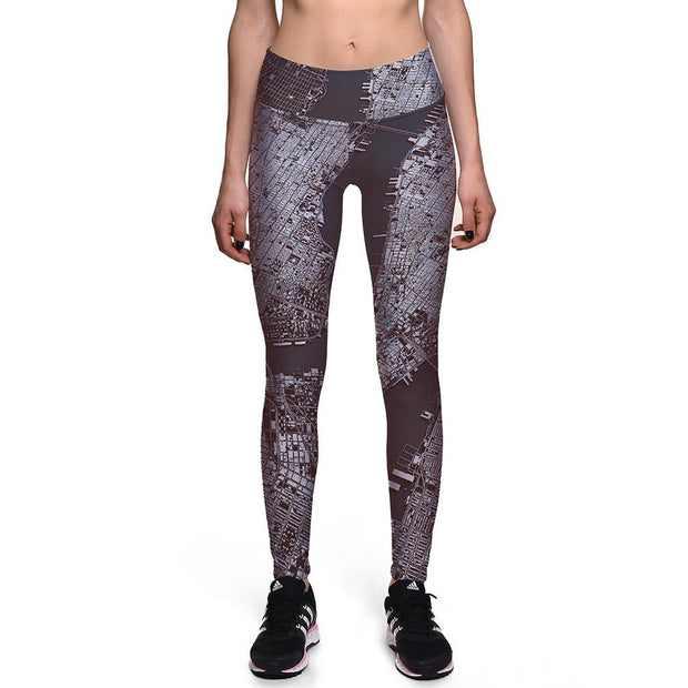 City Girl Athletic Leggings - Lotus Leggings