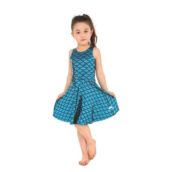 KID'S MERMAID SKATER DRESS