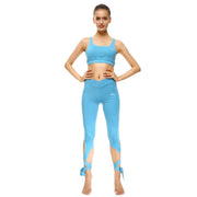 Baby Blue Tie-Up Sports Set - Lotus Leggings