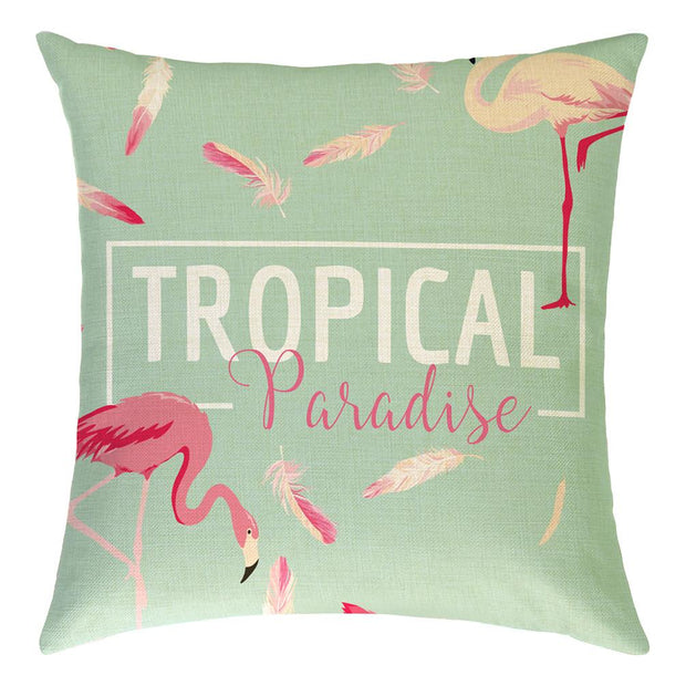 Summer Tropical Paradise Pillow Cover - Lotus Leggings