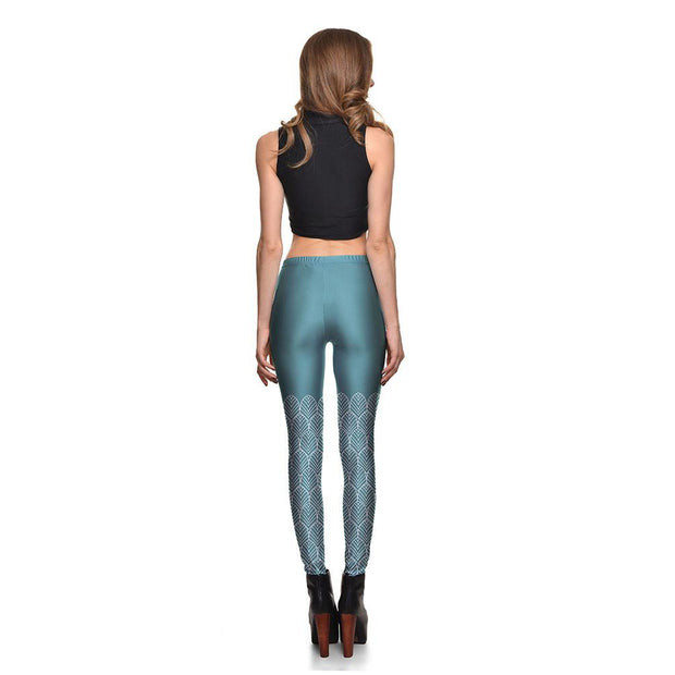 Teal Dreams Leggings - Lotus Leggings