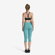 Teal MaxFit Capri - Lotus Leggings