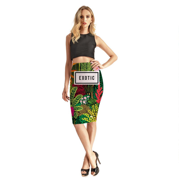 EXOTIC PENCIL SKIRT
