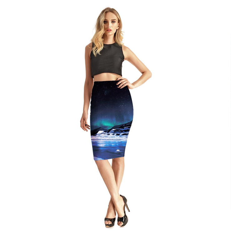 CELESTIAL NIGHTS PENCIL SKIRT