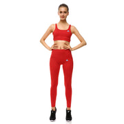 Rosy Red PerformX Sports Set - Lotus Leggings