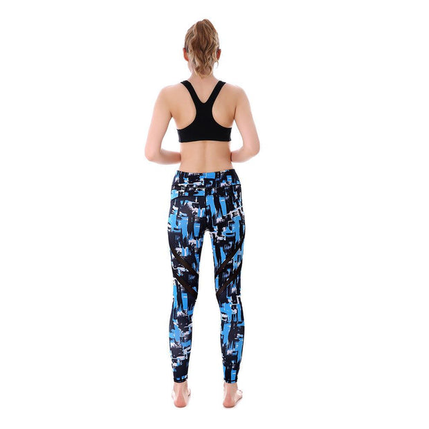 Blue Strokes MaxPerformance Leggings - Lotus Leggings