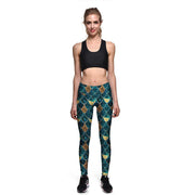 Golden Scales Athletic Leggings - Lotus Leggings
