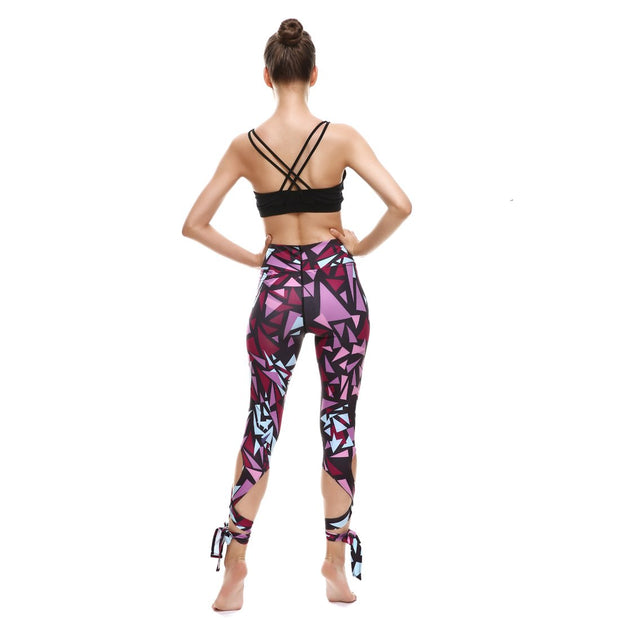 Triangle Tie-Up Leggings - Lotus Leggings