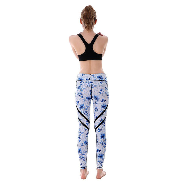 Blue Petals MaxPerformance Leggings - Lotus Leggings