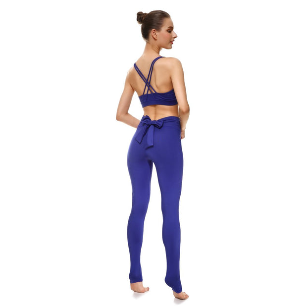 Bold Blue Bow Leggings - Lotus Leggings