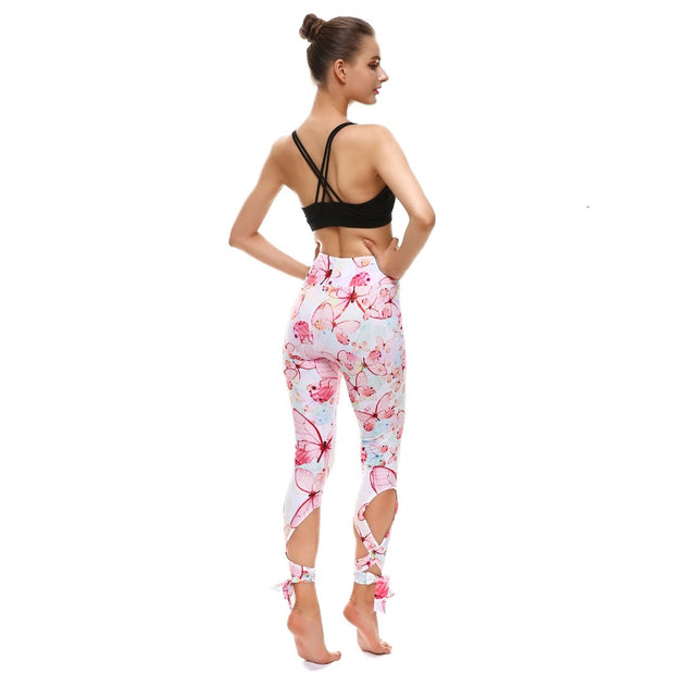 Soft Butterfly Tie-Up Leggings - Lotus Leggings