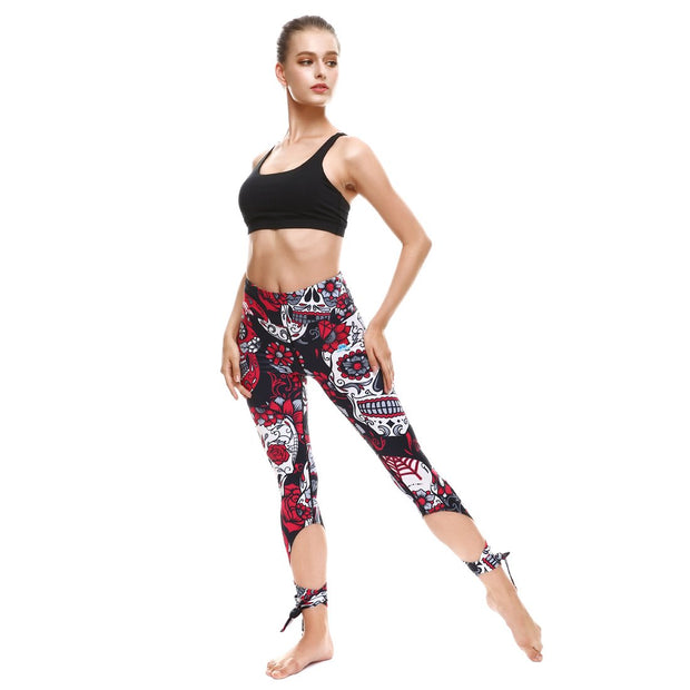 Deadly Garden Tie-Up Leggings - Lotus Leggings