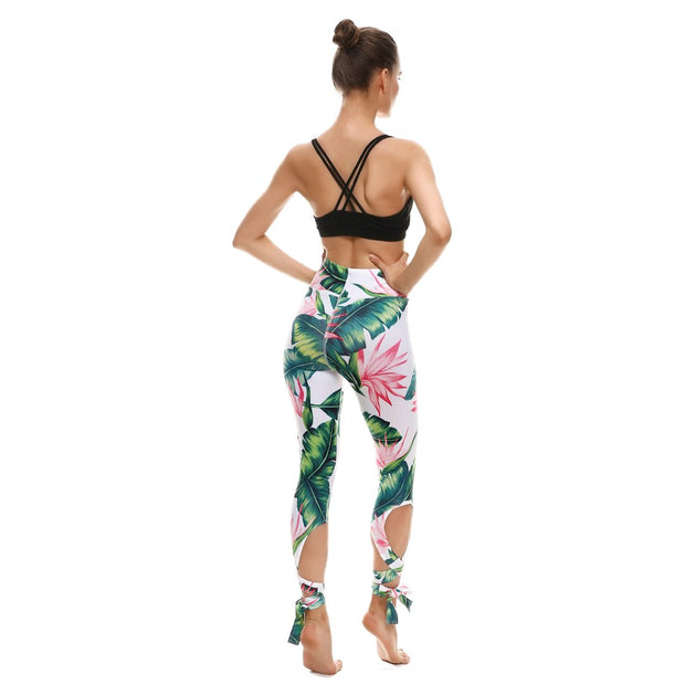 Paradise Tie-Up Leggings - Lotus Leggings
