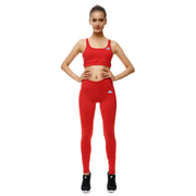 Rosy Red Bow Sports Set - Lotus Leggings