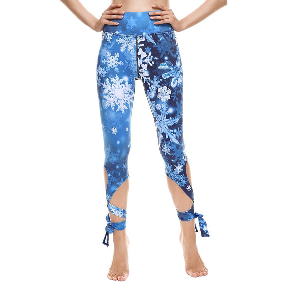 Winter Wonderland Tie-Up Leggings - Lotus Leggings