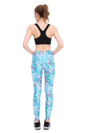 Windy Leaves Leggings - Lotus Leggings