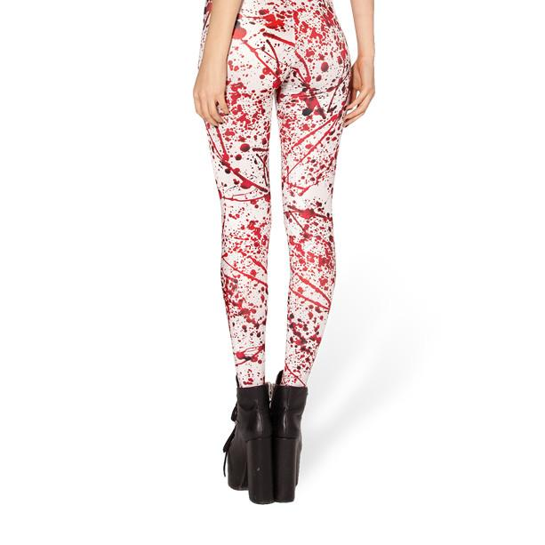 BLOOD SPLATTER LEGGINGS - Lotus Leggings