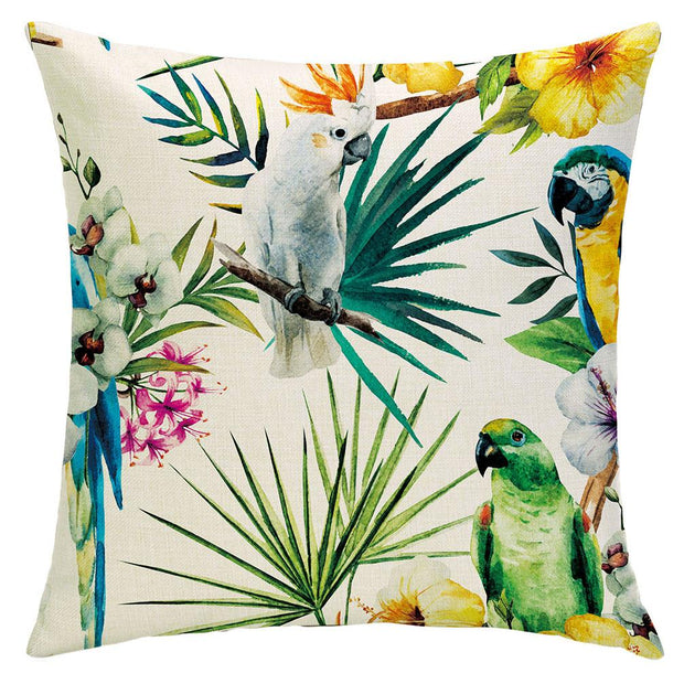 Toucan Parrots Pillow Cover - Lotus Leggings