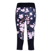 CHERRY BLOSSOM ATHLETIC CAPRI - Lotus Leggings
