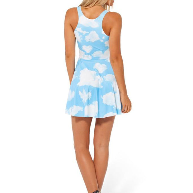 CLOUDS REVERSIBLE SKATER DRESS - Lotus Leggings