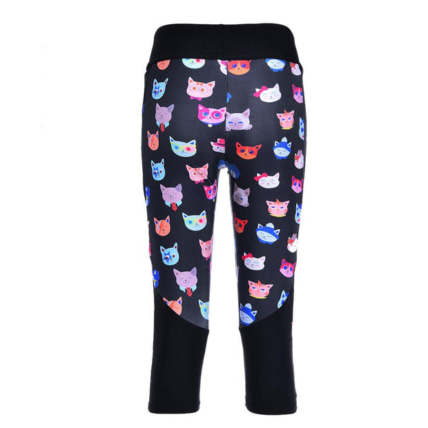 CUTE KITTIES ATHLETIC CAPRI - Lotus Leggings