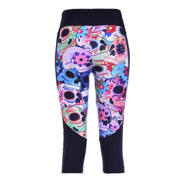 DAY OF THE DEAD ATHLETIC CAPRI - Lotus Leggings