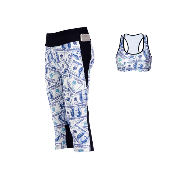 DOLLA DOLLA BILL ATHLETIC SET - Lotus Leggings