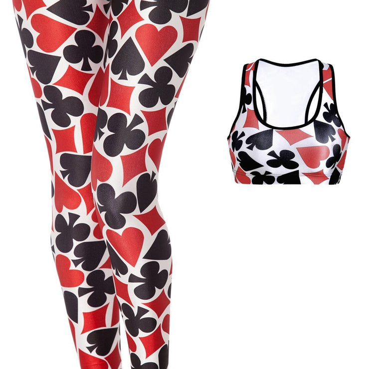 DECK OF CARDS FULL ATHLETIC SET - Lotus Leggings