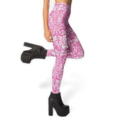 ELEGANT VINE PINK LEGGINGS - Lotus Leggings
