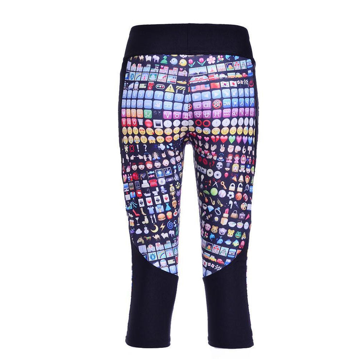 EMOJIS ATHLETIC CAPRI - Lotus Leggings