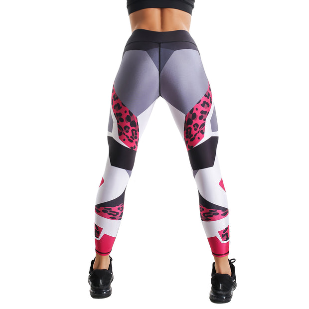 PINK LEOPARD PRINTED LEGGINGS