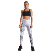 TREE OF LIFE LIGHT GREY PRINTED LEGGINGS